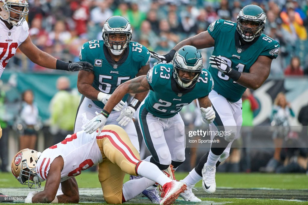 82eba05a2d4 ... Philadelphia Eagles free safety Rodney McLeod (23), Philadelphia Eagles  defensive tackle Fletcher Cox Limited Mens ...