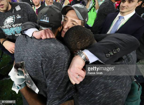 Philadelphia Eagles General Manager Howie Roseman celebrates after defeating the New England Patriots 4133 in Super Bowl LII at US Bank Stadium on...