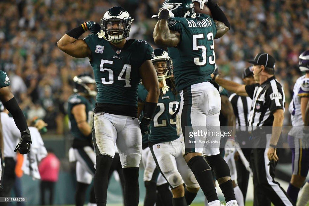 NFL: OCT 07 Vikings at Eagles : News Photo
