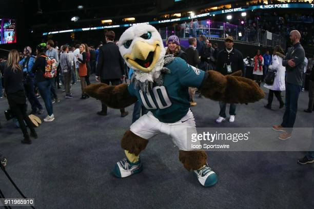 Philadelphia Eagles Mascot Swoop during Super Bowl LII Opening Night on January 29 2018 at the Xcel Energy Center in Minneapolis MN