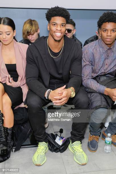 Philadelphia Eagles Obi Melifonwu attends Nolcha Shows New York Fashion Week Fall/Winter 2018 at MercedesBenz Manhattan on February 11 2018 in New...