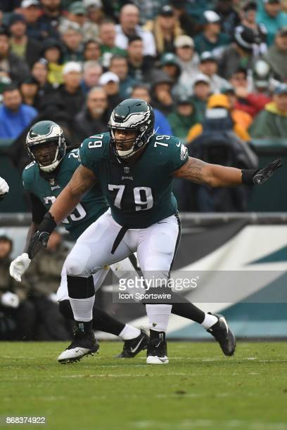 Philadelphia Eagles offensive guard Brandon Brooks sets up during a NFL football game between the San Fransisco 49ers and the Philadelphia Eagles on...
