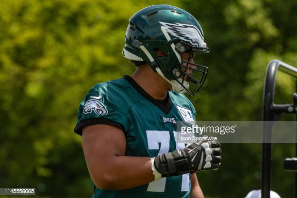 Philadelphia Eagles offensive tackle Andre Dillard during the Philadelphia Eagles OTA on May 21 2019 at the Novacare Training Complex in Philadelphia...