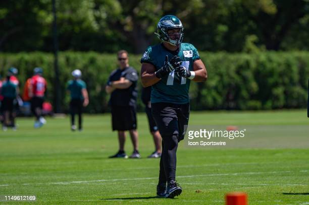 Philadelphia Eagles offensive tackle Andre Dillard during the first mandatory day of Philadelphia Eagles Minicamp on June 11 2019 at the Novacare...