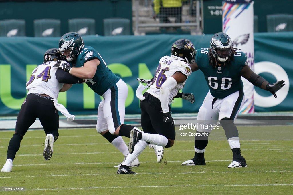 NFL: OCT 18 Ravens at Eagles : News Photo