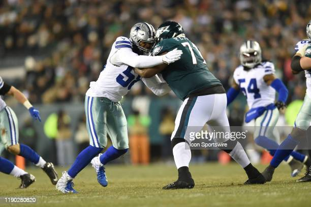 Philadelphia Eagles Offensive Tackle Jason Peters blocks Dallas Cowboys Defensive End Robert Quinn during the game between the Dallas Cowboys and the...
