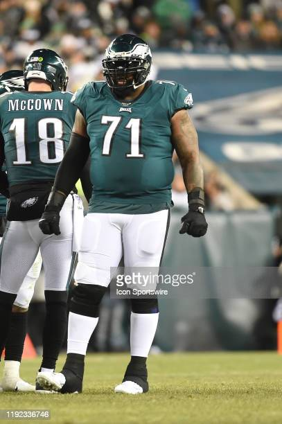 Philadelphia Eagles offensive tackle Jason Peters during the Playoff game between the Seattle Seahawks and the Philadelphia Eagles on January 5 at...