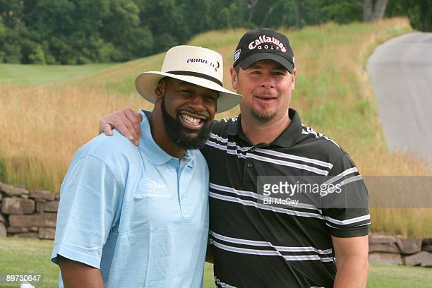 Philadelphia Eagles QB Donovan McNabb and former Philadelphia Phillies Pitcher Mitch Williams during the Donovan McNabb Foundation Golf Classic at...