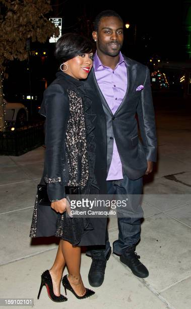 Philadelphia Eagles QB Michael Vick and wife Kijafa Vick attend An Evening With 7 at 7 On the 7th at on January 7 2013 in Philadelphia City