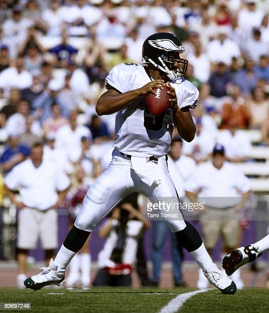 Philadelphia Eagles quarterback Donovan McNabb drops back to pass during a 273 victory over the Seattle Seahawks on September 23 at Husky Stadium in...