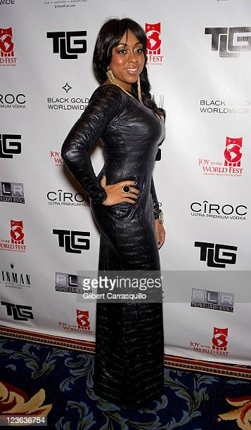 Philadelphia Eagles quarterback Michael Vick's fiancee Kijafa Frink attends the 2010 Joy to the World Fest Black Tie Gala at the Ritz Carlton Hotel...