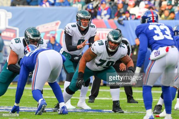 Philadelphia Eagles quarterback Nick Foles during the National Football League game between the New York Giants and the Philadelphia Eagles on...
