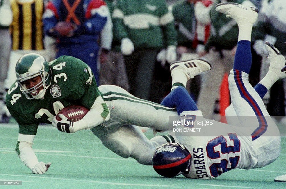 Philadelphia Eagles running back Herschel Walker(3 : ニュース写真