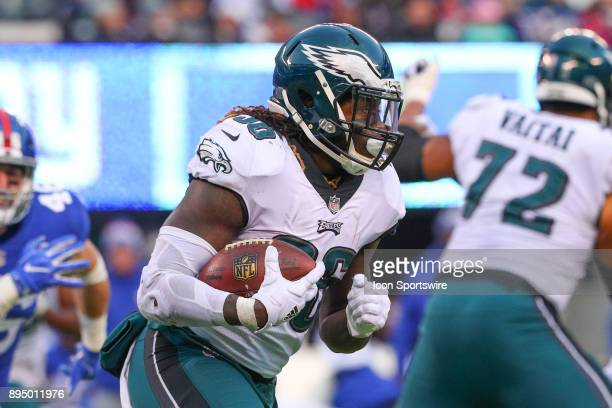 Philadelphia Eagles running back Jay Ajayi runs during the National Football League game between the New York Giants and the Philadelphia Eagles on...