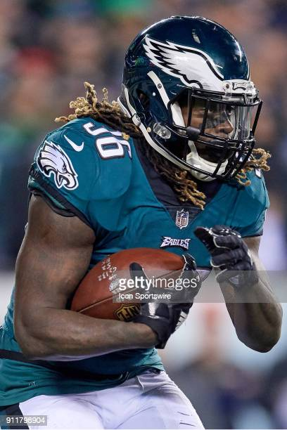 Philadelphia Eagles running back Jay Ajayi runs with the football during the NFC Championship Game between the Minnesota Vikings and the Philadelphia...