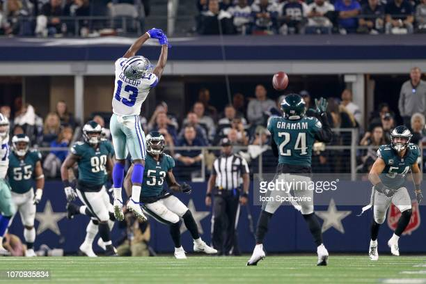 Philadelphia Eagles Safety Corey Graham makes an interception on a overthrown pass intended for Dallas Cowboys Wide Receiver Michael Gallup during...