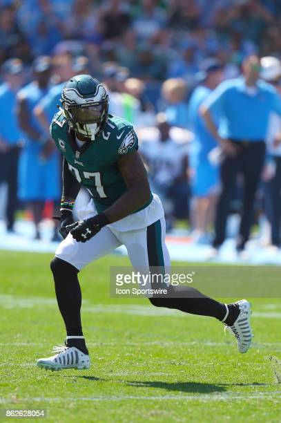 Philadelphia Eagles safety Malcolm Jenkins defends a play during the Philadelphia Eagles game versus the Los Angeles Chargers on October 1 at StubHub...