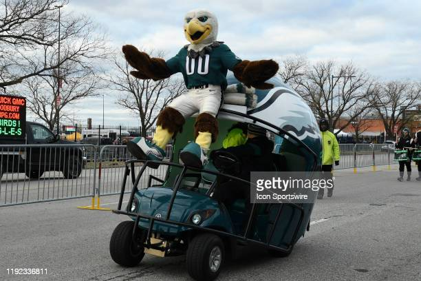 Philadelphia Eagles Swoop rides the helmet during the Playoff game between the Seattle Seahawks and the Philadelphia Eagles on January 5 at Lincoln...