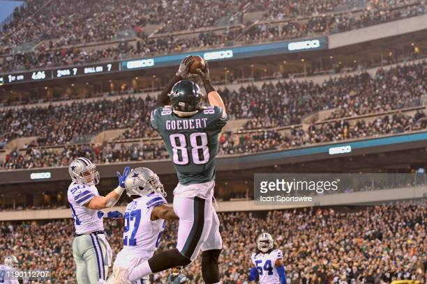 Philadelphia Eagles Tight End Dallas Goedert catches a touchdown pass during the game between the Dallas Cowboys and the Philadelphia Eagle on...