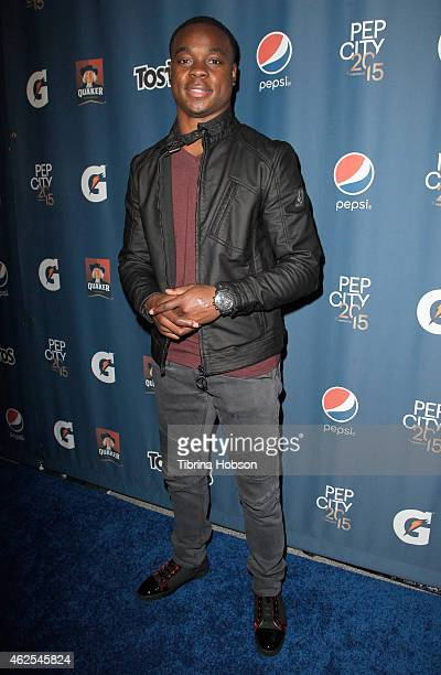Philadelphia Eagles wide receiver Jeremy Maclin attends the Pepsi Rookie of The Year Party at Phoenix Art Museum on January 30 2015 in Phoenix Arizona