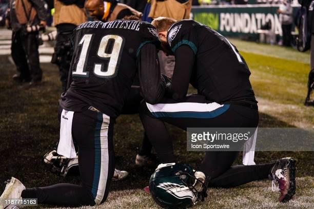 Philadelphia Eagles Wide Receiver JJ ArcegaWhiteside Philadelphia Eagles Quarterback Nate Sudfeld and Philadelphia Eagles Wide Receiver Greg Ward...