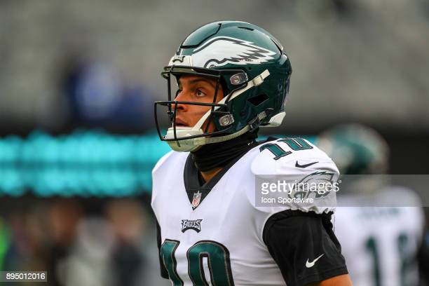 Philadelphia Eagles wide receiver Mack Hollins prior to the National Football League game between the New York Giants and the Philadelphia Eagles on...