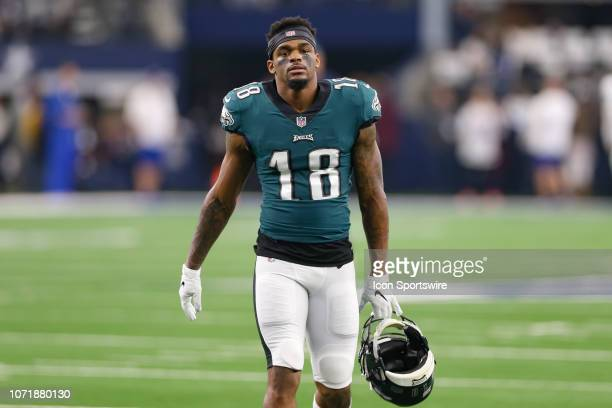 Philadelphia Eagles Wide Receiver Shelton Gibson warms up prior to the game between the Philadelphia Eagles and Dallas Cowboys on December 9 2018 at...