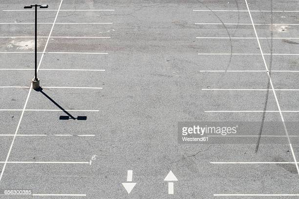 USA, Philadelphia, Empty parking lot, seen from above