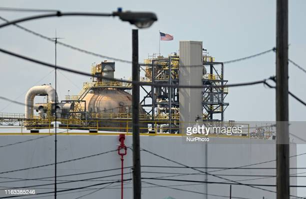 Philadelphia Energy Solutions refinery in South Philadelphia PA on August 8 ahead of its imminent permanent closure by the end of the month