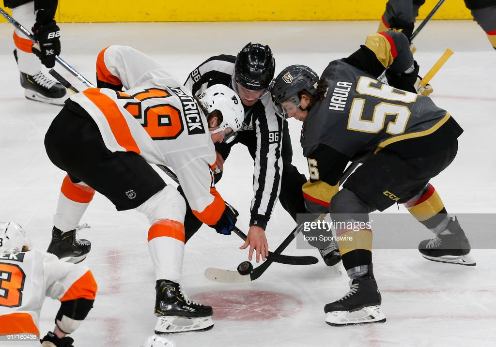 NHL: FEB 11 Flyers at Golden Knights : News Photo