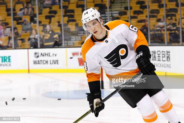 Philadelphia Flyers center Nolan Patrick skates before a preseason game between the Boston Bruins and the Philadelphia Flyers on September 21 at TD...