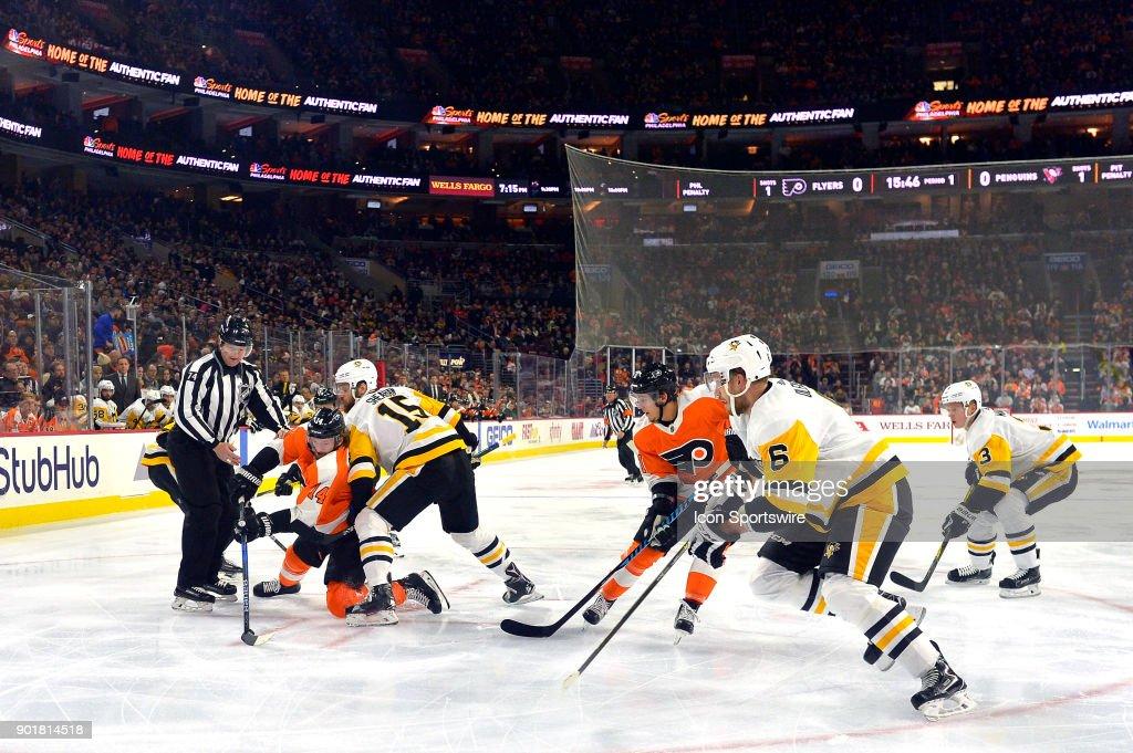 NHL: JAN 02 Penguins at Flyers : News Photo