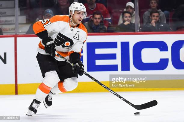 Philadelphia Flyers Center Valtteri Filppula looks for a pass target during the Philadelphia Flyers versus the Montreal Canadiens game on February 26...