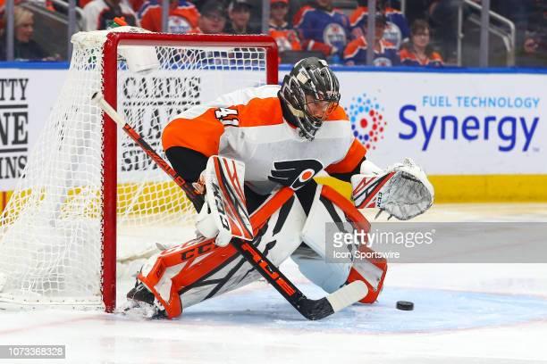 EDMONTON AB Philadelphia Flyers Goalie Anthony Stolarz makeDECEMBER 14 during the Edmonton Oilers game versus the Philadelphia Flyers on December 14...