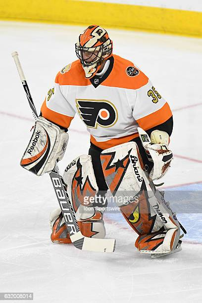 Philadelphia Flyers goalie Neil Little makes a save during a NHL hockey game between the Philadelphia Flyers Alumni and the Pittsburgh Penguins...