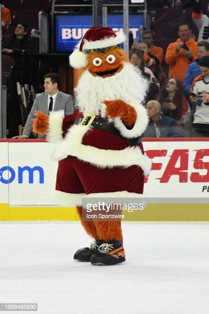 Philadelphia Flyers mascot Gritty poses for a picture during the NHL game between the Arizona Coyotes and the Philadelphia Flyers on November 8 2018...