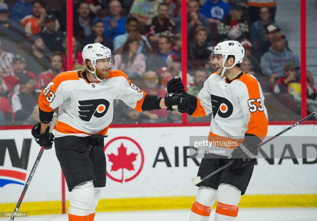 NHL: OCT 10 Flyers at Senators : News Photo