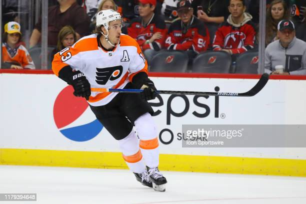 Philadelphia Flyers right wing Kevin Hayes skates during the third period of the National Hockey League game between the New Jersey Devils and the...