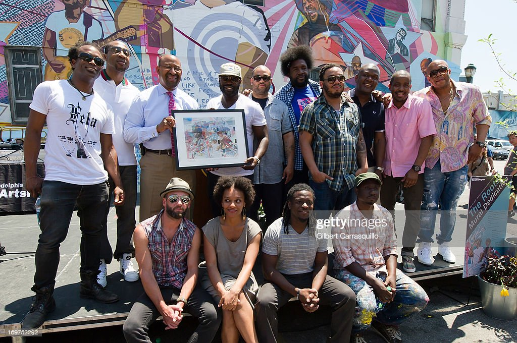 The Roots Mural Dedication With ?uestlove, Black Thought And The Roots