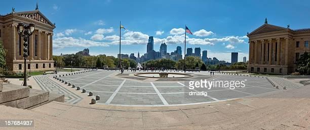 Philadelphia Museum of Art – Haupteingang Richtung Innenstadt (Panorama