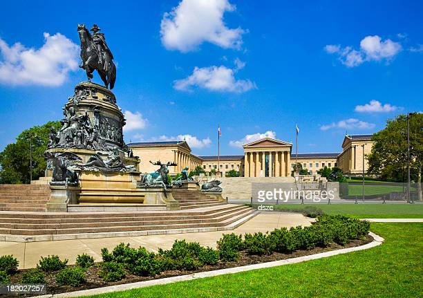 Philadelphia Museum of Art, Pennsylvania, Washington Monument Statue, Eakins Oval