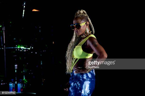 Philadelphia native Mary J Blige headlines the Wawa Welcome America Fourth of July Concert on the Benjamin Franklin Parkway in Philadelphia PA on...