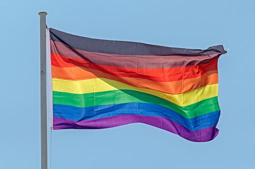 Philadelphia new 8 stripes black & brown gay pride flag - gettyimageskorea