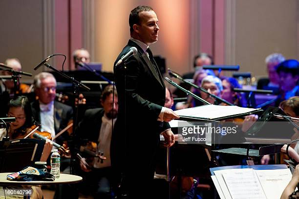 Philadelphia Orchestra Music Director Yannick NézetSéguin performs with the Philadelphia Orchestra at the Academy of Music's 156th Anniversary...