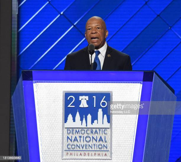 Congressman Elijah Cummings of Maryland speaks at the Democratic National Convention at the Wells Fargo Center in Philadelphia, Pennsylvania on July...