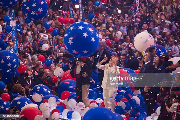 Philadelphia, PA On Wednesday, July 27, in the Wells Fargo Center, Hillary Clinton, and her husband, Bill Clinton, Tim Kaine, and his wife, Anne...