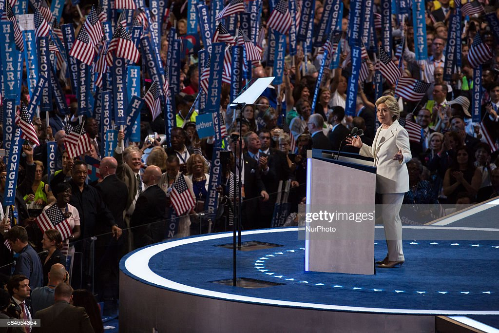 2016 Democratic National Convention Last Day : News Photo