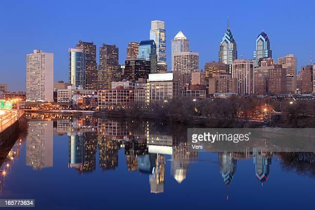 philadelphia, pa - philadelphia skyline stock pictures, royalty-free photos & images