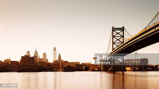 philadelphia panoramic skyline - philadelphia skyline stock pictures, royalty-free photos & images