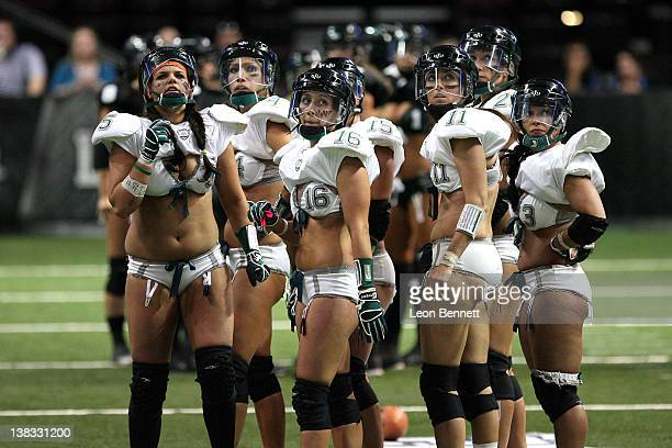 Philadelphia Passion during the Lingerie Football League's Lingerie Bowl IX Los Angeles won 28-6 at Orleans Arena on February 5, 2012 in Las Vegas,...